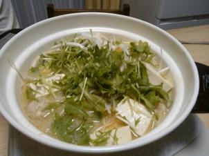 Une soupe que m'a préparée la propriétaire de la guesthouse.