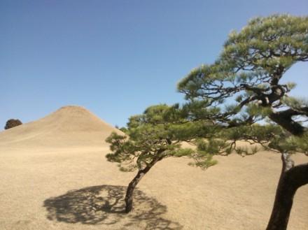 Réplique miniature du mont Fuji.
