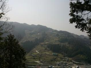Vue sur le hameau de Miyoshi.