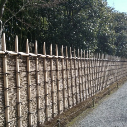 Mur en bambou.